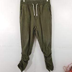 DIVIDED Green Elastic Jogger With Ruching Hem, 30